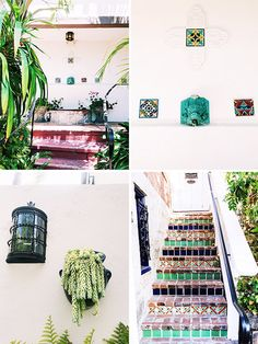 white walls with colorful tile decor at casa laguna boutique hotel / sfgirlbybay