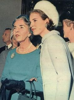 Anne-Marie of Greece and Queen Ingrid of Denmark attend the reception at the City Hall in Copenhagen. Wedding of Princess Benedikte of Denmark and Prince Richard zu Sayn-Wittgentein-Berleburg a few days later.