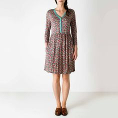 View All | Maisie Flowers Jersey Dress with Contrast Placket | CathKidston