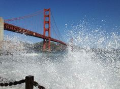 San Francisco, Californië: golden gate bridge from SF