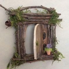 Fee Tür jeder eine Art Handcrafted durch Olive Fairy #fairygardening #miniaturefairygardens #fairiesgarden