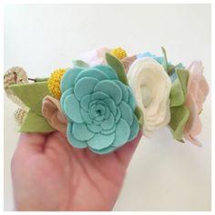 SUCCULENT CROWN // Felt Flower Crown // Woodland di HoneyCrown