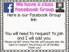 FREE parent communication FB printables