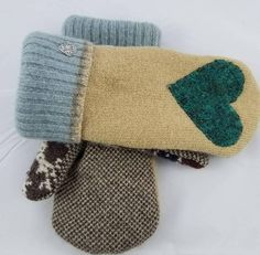 This item is unavailable Sweater Mittens, Wool Sweaters, Upcycle, Winter Hats, My Etsy Shop, Gloves, Trending Outfits, Unique Jewelry, Handmade Gifts