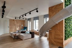 awesome A Childhood Fantasy Comes True: An Apartment with a Slide Check more at http://www.interiordesignnewideas.com/a-childhood-fantasy-comes-true-an-apartment-with-a-slide.html