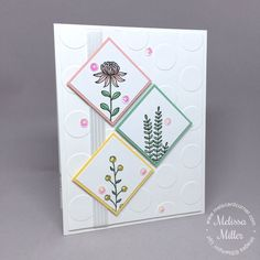 One of my favorite stamp sets available this year from Stampin' Up!® during their annual Sale-A-Bration event is definitely the Flowering Fields set. I grew up in the middle of nowhere countryside in Tennessee, so I've always loved wildflowers and...