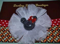 Minnie Mouse polka dot bow on Etsy, $8.50