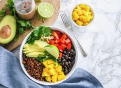 Packed with plant-based protein, fiber and a ton of veggies, these Vegan Lentil Walnut Taco Bowls make an easy weeknight meal (with delicious leftovers!)
