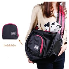 Homiego Pet Sling Carrier BagHands Free Puppy Purse Shoulder Bag with Adjustable Strap for Small Dogs and Cats Black ** Find out more about the great product at the image link.-It is an affiliate link to Amazon. #CatCarrier