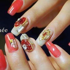 Swarovski pixie ♡ スワロフスキーのパーティーで 展示されていたデザインを 選んでくださりました✨✨ カラーは少しだけアレンジ♡ #nail#nails#gelnails#nailart#ネイル#ジェルネイル#美甲#네일#젤네일#nailsalonrenee#ネイルサロンレネ#3Dattacker#love#instagood#tbt#photooftheday#japanesenailart