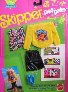 Barbie Skipper Pet Pals Fashions