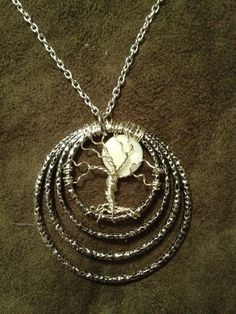 Full Moon Tree of Life Abalone Handmade Jewelry by Just4FunDesign, $25.00