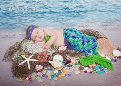 Made to Order Baby Girl Crochet Mermaid Cocoon by JoellaCrochet, $34.99