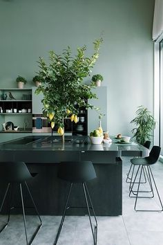 〚 Wonderful interiors by Italian decorator Vanessa Pisk 〛 ◾ Photos ◾Ideas◾ Design Kitchen Time, Kitchen Pantry, Kitchen Ideas, Dark Walls, Kitchen Colors, Kitchen Interior, Interior Inspiration, Beautiful Homes, Sweet Home