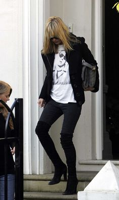 Kate Moss with Overknee Boots