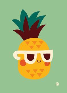 cool Pineapple von ByBora auf Etsy