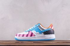 a95939b7d8 Custom Nike Air Force 1 Low Parra Friends & Family MutiColor Air Force Ones,  Air