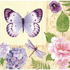 Free Shipping. Buy Floral 'In the Garden' Large Napkins (16ct) at Walmart.com