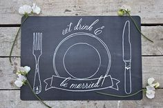 Free printable chalkboard-themed placemats