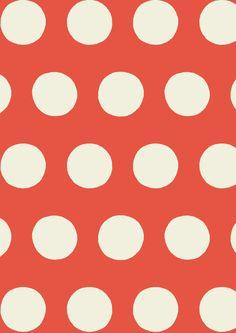 Big Spot Tomato Red | Cath Kidston classic polkadot print design