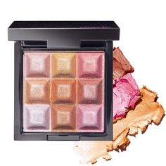 Get a pearly glow thanks to these cubes: with a sweep of a brush, combine the shimmery shades of pink, gold, and bronze for a gorgeous-on-all-skin-tones glow or even dab individual shades onto eyelids using your finger. 0.48 oz. net wt.• 9 shades combined add instant radiance to skin• Individual shades light up the lids with gorgeous shimmer• Blendable cream-to-powder formula