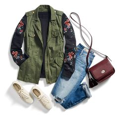 Utilize the utility trend. Pair a tough cargo vest with a flirty floral top & your favorite sneaks. See more ways to wear the trend.