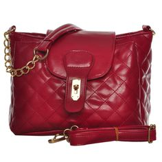 Sarah Birds Boutique - Classy Quilted Cross Body Bag in Red, £17.99 (http://www.sarahbirdsboutique.co.uk/classy-quilted-cross-body-bag-in-red/)