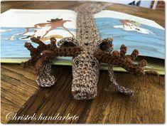 Christels handarbete: Virkat bokmärke älg, Crochet bookmark moose