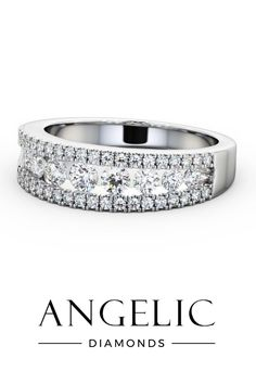 This wedding ring with diamonds is one of our most glamorous pieces. Covered in sparkling gemstones, this diamond wedding ring will blow you away. Eternity Rings, Eternity Ring Diamond, Diamond Wedding Rings, Elegant Wedding Rings, Wedding Rings For Women, Natural Diamonds, Round Diamonds, Beautiful Diamond Rings, Diamond Jewellery