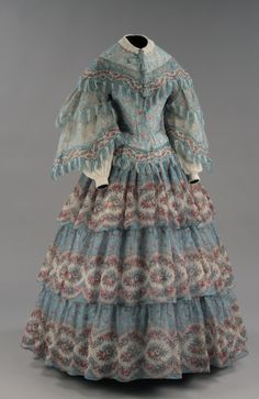 Day dress ca. 1854-55 From the McCord Museum