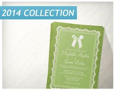 Lime Green Country Burlap Wedding Invitations