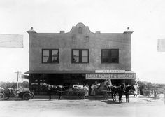 Lankershim Bakery and T. W. Herron's Store located at Magnolia Boulevard and Lankershim Boulevard, circa 1915. San Fernando Valley History Digital Library.