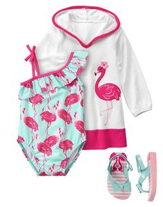 Toddler Girl's Hello Flamingo Outfit by Gymboree