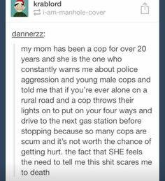 Not all cops are bad, not all cops are good, but why take the chance