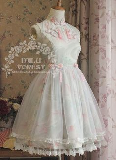 Restocked: Milu Forest ❤♒Fish In Dreams♒❤ Qi Lolita Kawaii Fashion, Lolita Fashion, Cute Fashion, Frilly Dresses, Pretty Dresses, Beautiful Dresses, Filles Alternatives, Mode Lolita, Lolita Style
