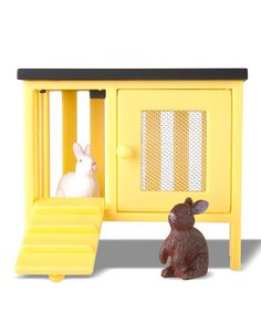 Another great find on #zulily! Småland Rabbit & Hutch Set by Lundby #zulilyfinds