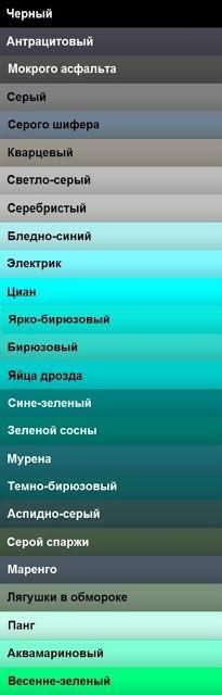 Названия оттенков цветов. На заметку.. Обсуждение на LiveInternet - Российский Сервис Онлайн-Дневников