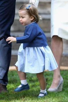 Off and away ... Princess makes a dash at garden party in Canada