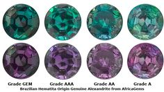 How To Tell Different Alexandrite Grades ~ My Birthstone   ♥ #beautiful #jewelry #gems