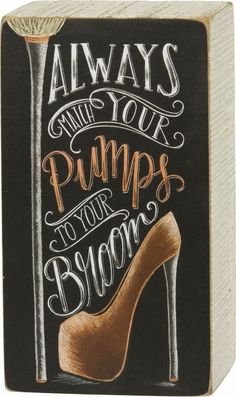 details about primitives by kathy chalk box sign always match your pumps to your broom - Primitives By Kathy Halloween