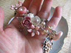 LIMITED TIME saleSpringtimevintage flower jewelry by originalnoell, $48.00
