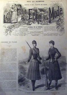 ANCIENNE REVUE LE PETIT ECHO DE LA MODE DE 1889 AVEC GRAVURES RARE N°33