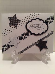 Black & White #Washi Tape Card. Get the washi tapes here: www.washitapes.nl #maskingtape
