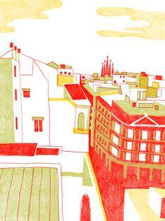 バルセロナ It Works, Fair Grounds, Draw, Graphic Design, Landscape, Book, Illustration, Travel, Scenery