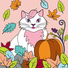 🐱 #coloring #fullcolor #basiccolor #pinky #cat