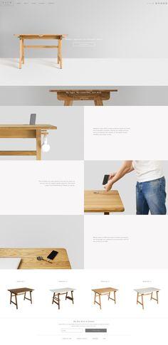 Quem design online shop, e-commerce, clean design, elegant website, responsive website Online Furniture Stores, Design Agency, Portfolio Design, Minimalist Design, Modern Furniture, Minimalism, Desk, Clean Design, Wood
