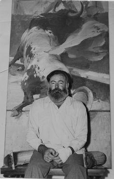 Rare Ernest Hemingway Picture circa 1944