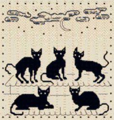 """жаккардовый орнамент """"кошки"""""""