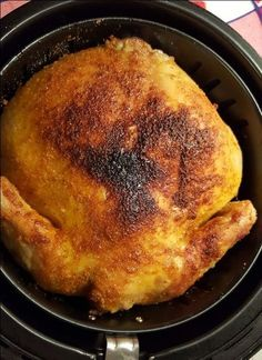Delicious Rotisserie Chicken, cooked to perfection in an Air Fryer. Delicious Rotisserie Chicken, cooked to perfection in an Air Fryer. Power Air Fryer Recipes, Air Fryer Oven Recipes, Air Frier Recipes, Power Air Fryer Xl, Nuwave Oven Recipes, Actifry Recipes, Air Fryer Fried Chicken, Air Fried Food, Phillips Air Fryer