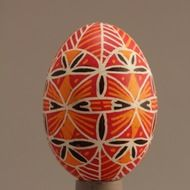 Decorated eggs imported from the Czech Republic. Egg Decorating, Pigeon, Traditional Design, Czech Republic, Decorative Plates, Eggs, Orange, Handmade, Gifts